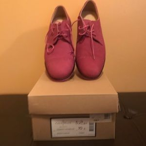 Pink Suede Cole Haan Loafers